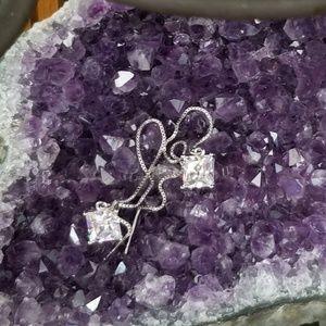 *Last One!* 925 Sterling Silver Crystal Earrings